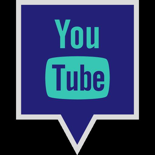 logo, media, social, youtube icon