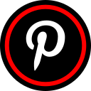 media, online, pinterest, social icon