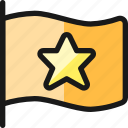 flag, star
