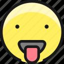 smiley, tongue