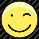 smiley, wink