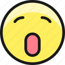 smiley, yawn