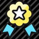 star, award, ribbon icon