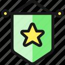 award, wall, star icon