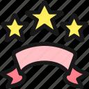 ranking, stars, ribbon