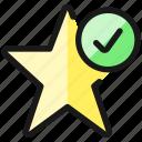 rating, star, check