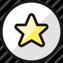 rating, star, circle