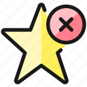 rating, star, remove