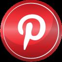contact, media, pinterest, social, web icon