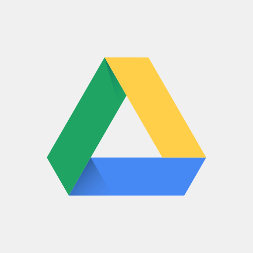 colored, google drive, high quality, media, social, social media, square icon