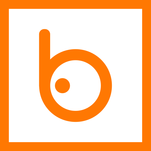 badoo, colored, line, media, social, social media, square icon
