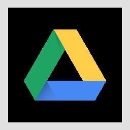 colored, google drive, high quality, media, social, social media, square icon