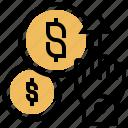 click, cost, cpc, pay, per icon