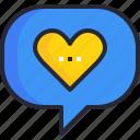 communication, emotion, feeling, love, speech bubble, talk, talking icon