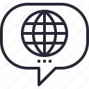 communication, media, social, talk, world, worldwide icon