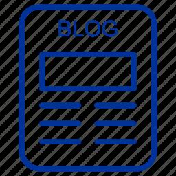 blog, blogger, internet, multimedia icon