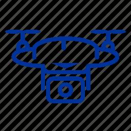 camera, drone, multimedia, technology icon