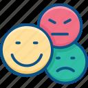 angry, customer feedback, emoji, emoticon, feedback, happy, sad, satisfiction, straight face icon icon