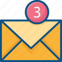 email, email notify icon, envelope, internet, letter, mail-unread, message, notification icon