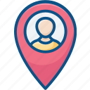 location pin, map location, map pin, user location, user placeholder icon icon
