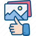 branding, digital marketing, facebook, facebook page, fan page, like, post icon icon