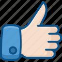bookmark, favorite, heart, like, love, thumb, thumb up icon icon