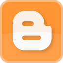 blog, blogger, blogging, color, orange, square icon