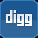 digg, blue, social media, square