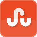 stumbleupon, square, orange, stumble upon