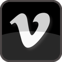 black, film, movie, multimedia, play, player, share, social, social media, square, tube, tv, upload video, video, vimeo icon