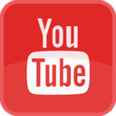 film, movie, play, player, red, square, tube, tv, video, youtube icon