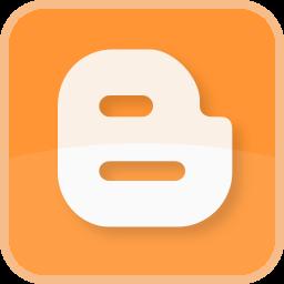 blog, blogger, blogging, color, orange, square icon