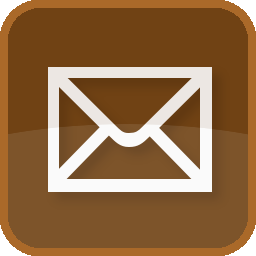 address, basic, brown, contact, delivery, email, envelope, letter, mail, message, post, send, square icon