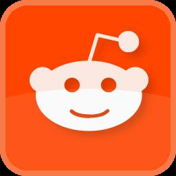 Red Color Media Social Square Icon Reddit falsos sharp