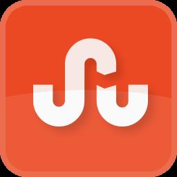 orange, square, stumble upon, stumbleupon icon