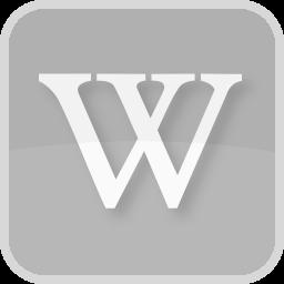 logo, wiki, wikipedia, writing icon