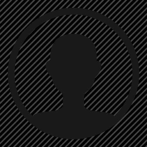 account, avatar, circle, contact, male, profile icon