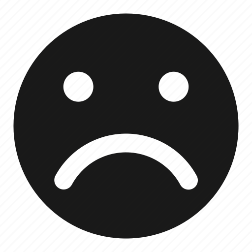 angry, depressed, dislike, face, sad, unhappy icon