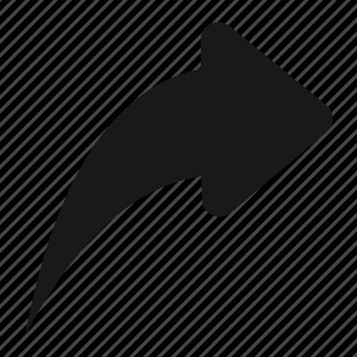 arrow, back, message, previous, reply, respond icon