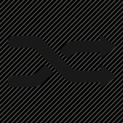 control, media, mix, random, randomize, rearrange icon