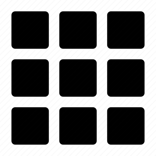 grid, large, thumbnail, thumbnails, view icon