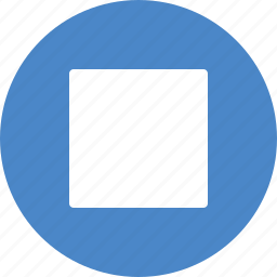 blue, circle, control, media, player, stop icon