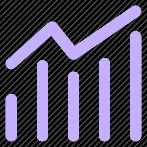 analytics, blue, chart, circle, earnings, finance, stockmarketicon icon