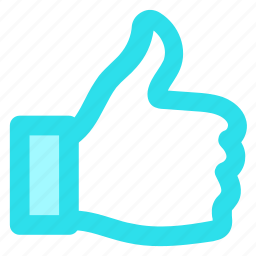 approve, blue, circle, like, thumbs, up, voteicon icon