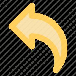 arrow, blue, circle, previous, reply, respond, responseicon icon