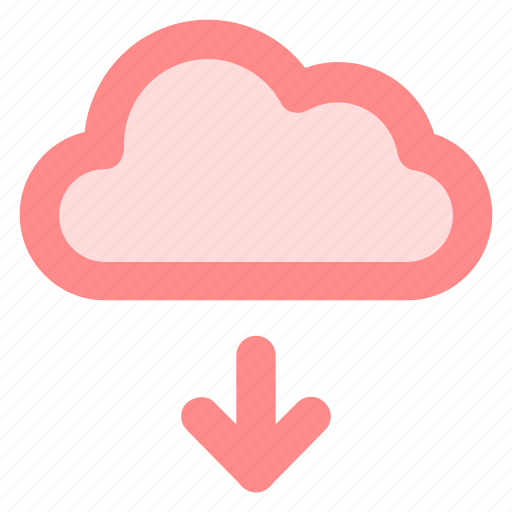 backup, circle, cloud, download, ftp, storage icon