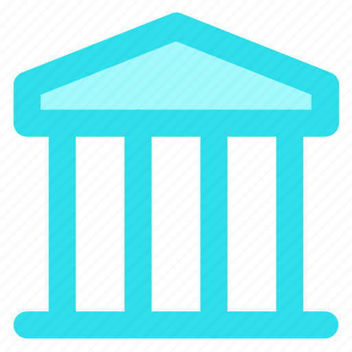 bank, circle, finance, financialinstitution, street, treasury, wallicon icon