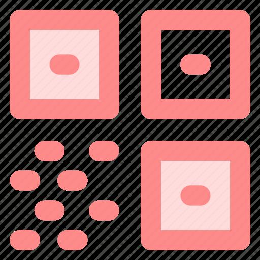 barcode, blue, circle, code, qr, qrcode, quickresponseicon icon