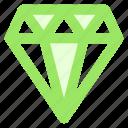 best, blue, circle, diamond, gem, jewelry, premiumicon icon