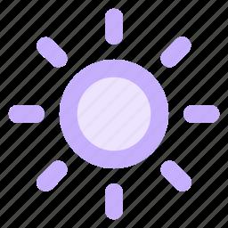 brightness, circle, energy, solar, sun, sunny, weathericon icon